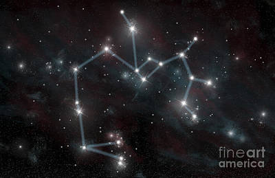 Artists Depiction Of The Constellation Art Print by Marc Ward