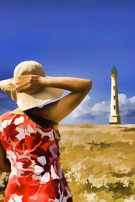 Aruba Lighthouse Art Print by Dennis Cox WorldViews