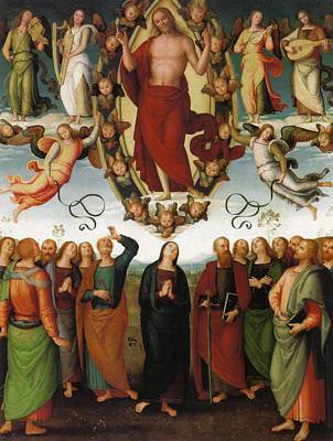 Ascension Painting - Ascension Of Christ by Pietro Perugino