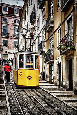 Photograph - Ascensor Da Bica, Lisbon, Portugal by Colin and Linda McKie