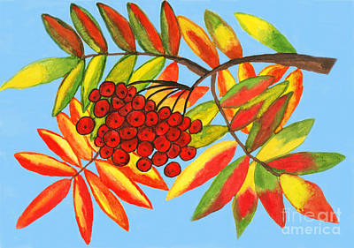 Painting - Ashberry, Painting by Irina Afonskaya