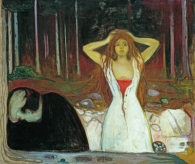 Expressionist Painting - Ashes by Edvard Munch