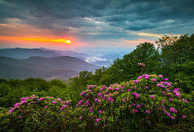Smoky Mountains Photograph - Asheville North Carolina Blue Ridge Parkway Scenic Landscape by Dave Allen