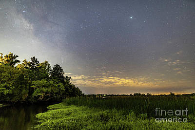 Photograph - Ashley River Milky Way by Robert Loe