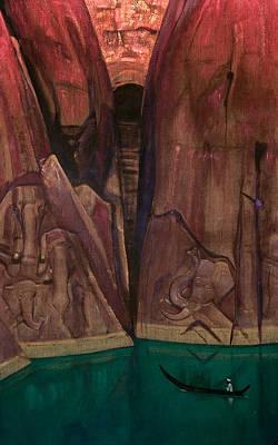Traquil Painting - Ashram by Nicholas Roerich
