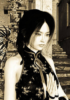 Digital Art - Asian Beauty by Design Windmill