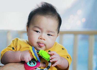 Photograph - Asian New Born Baby by Anek Suwannaphoom