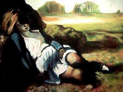 Asleep Art Print by Gabriel Aceves