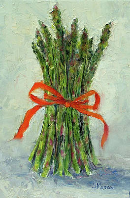 Painting - Asparagus Means Spring by Jill Musser