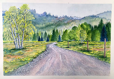 Painting - Aspen Road by Richard Benson