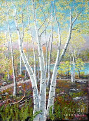 Painting - Aspens by Al Hunter