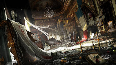 Design Wall Art - Digital Art - Assassin's Creed Unity by Maye Loeser
