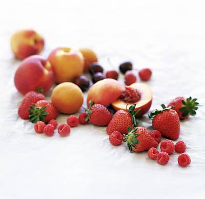 Assortment Of Summer Fruit Art Print by David Munns