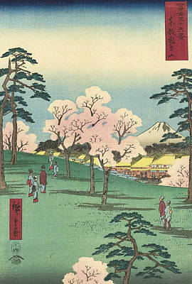 Oriental Painting - Asuka Hill In Edo by Utagawa Hiroshige