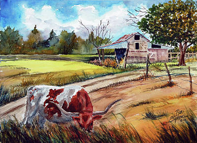 At Home On The Range Art Print by Ron Stephens