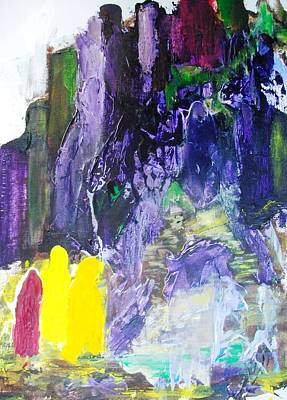 Purple Robe Painting - At Last The Purple Mountain by Bruce Combs - REACH BEYOND