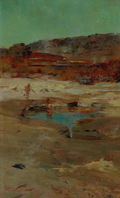 Painting - At Rotorua by Treasury Classics Art