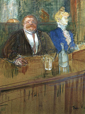 Drink Painting - At The Cafe by Henri de Toulouse-Lautrec