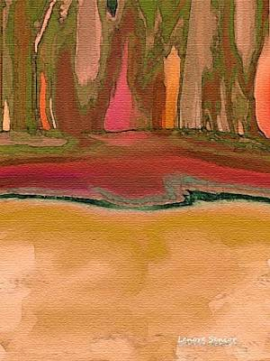 Autumn Landscape Mixed Media - At The Edge by Lenore Senior