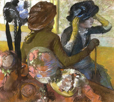 Milliner Painting - At The Milliner by MotionAge Designs
