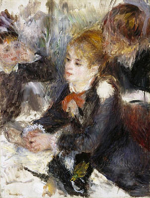 Working Painting - At The Milliner's by Pierre-Auguste Renoir