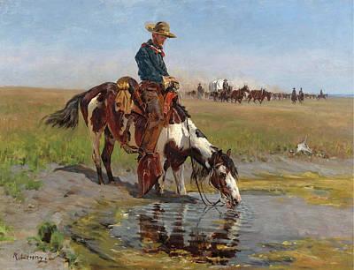 Richard Lorenz Painting - At The Watering Hole by Richard Lorenz