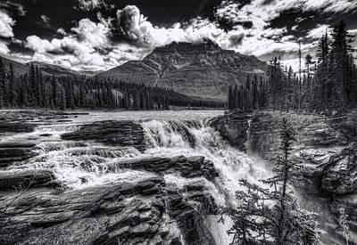 Photograph - Athabasca Falls by Wayne Sherriff