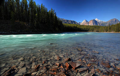 Athabasca River In Jasper National Park Art Print