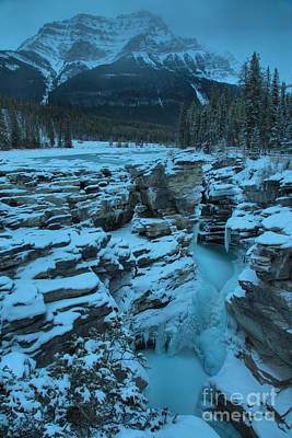 Photograph - Athbasca Falls Frozen Portrait by Adam Jewell