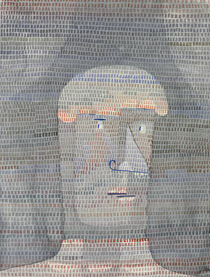 Dot Painting - Athlete's Head by Paul Klee