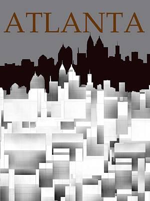 Landscape Digital Art - Atlanta 1 by Alberto RuiZ