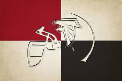 Atlanta Iphone Cases Photograph - Atlanta Falcons Helmet by Joe Hamilton