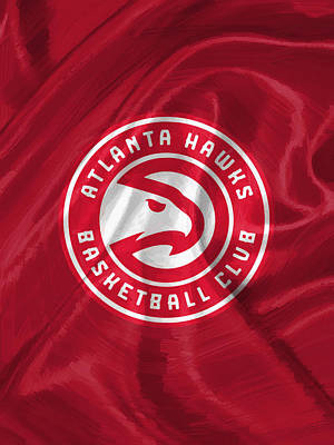 Dunk Digital Art - Atlanta Hawks by Afterdarkness