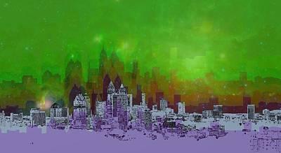 Atlanta Skyline 4 Art Print by Alberto RuiZ