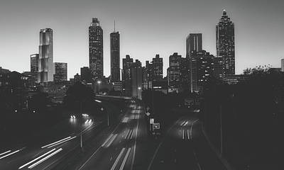 Photograph - Atlanta Skyline At Dusk by Library Of Congress