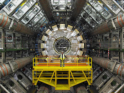 Component Photograph - Atlas Detector, Cern by David Parker