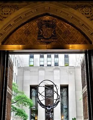 Photograph - Atlas Thru The Doors Of St Pat's by Rob Hans