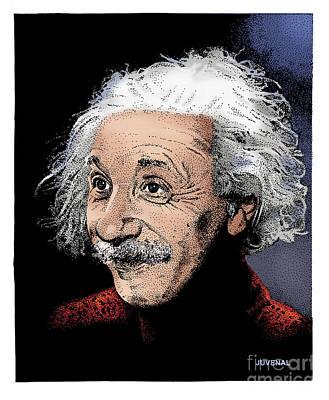 Drawing - Atomic Albert by Joseph Juvenal