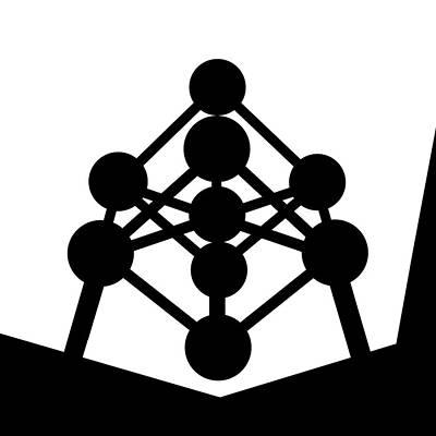 Mixed Media - Atomium by Asbjorn Lonvig
