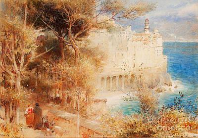 Villa Painting - Atrani Near Amalfi by Celestial Images