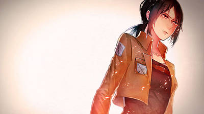 Portrait Digital Art - Attack On Titan by Maye Loeser