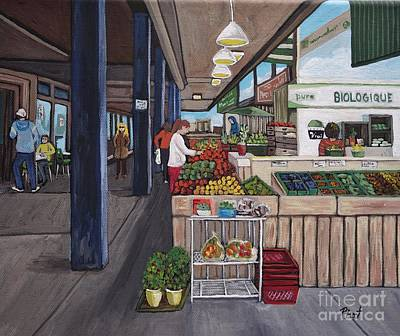 Painting - Atwater Market by Reb Frost