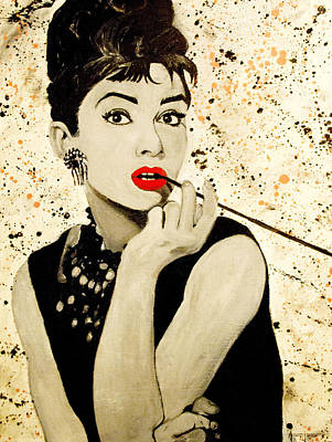 1950 Movies Painting - Audrey Hepburn by Anthony Jensen