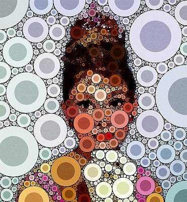 Impressionism Royalty-Free and Rights-Managed Images - Audrey Hepburn by Esoterica Art Agency