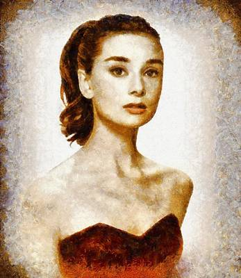 Actors Royalty-Free and Rights-Managed Images - Audrey Hepburn Hollywood Actress by John Springfield