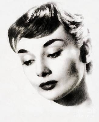 Actors Royalty-Free and Rights-Managed Images - Audrey Hepburn, Hollywood Legend by John Springfield by John Springfield