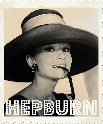 Watercolour Photograph - Audrey Hepburn by John Springfield