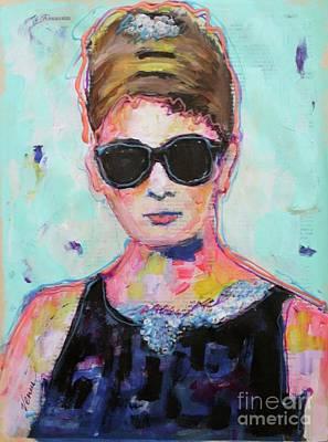 Painting - Audrey Hepburn by Venus