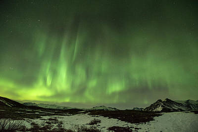 Photograph - Aurora Borealis Or Northern Lights. by Andy Astbury