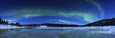 Aurora Borealis, Tennevik Lake, Troms Art Print